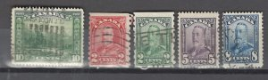 COLLECTION LOT # 2924 CANADA 5 STAMPS 1928+ CV+$20