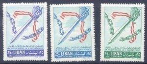 LEBANON- LIBAN SC# C356-C358 - MH