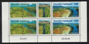 New Caledonia Fields River Bridge Delta Nature Block of 4 SG#1456-1457