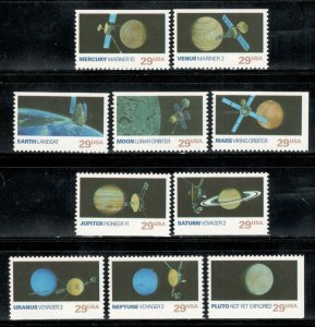 2568-2577 Space Exploration Booklet Set Of 10 Singles Mint/nh Free Shipping
