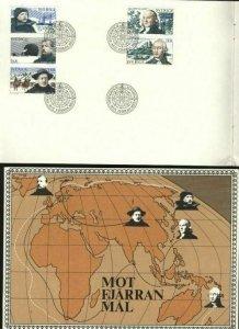 Sweden FD Book To Far Away Places 1973.  Engraver Cz Slania. See Description