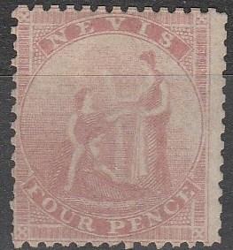 Nevis #6  Unused CV $175.00 (A16727)