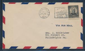 #676 ON FDC CACHET BY ROESSLER MAY 1,1929 WASHINGTON, DC BU5978