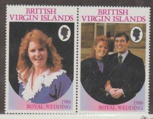 Virgin Islands Scott #537-538 Stamps - Error No Denomination - Mint NH Pair