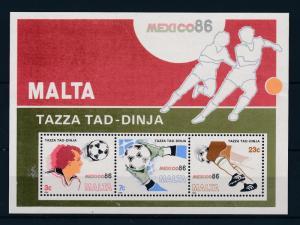 [45076] Malta 1986 Sports World Cup Soccer Football Mexico MNH Sheet