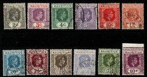 MAURITIUS SG252/63a 1938-49 DEFINITIVE SET FINE USED