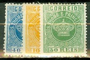 M: St Thomas & Prince 1-9 mint most no gum (4, 9 mint) CV $61; scan shows a few