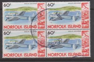 Norfolk Island Sc#266 Used Block of 4