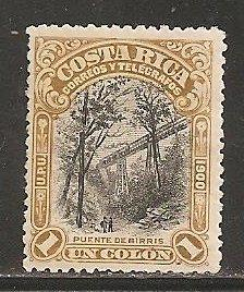 Costa Rica  SC 51 Mint,  Hinged