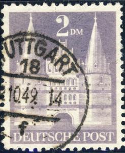 ALLEMAGNE / GERMANY Bizone 1948 Mi.98.YIIB(98.IIwg) 2DM T.2 p.11 - VF Used (h)
