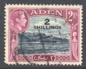 Aden Scott 44 - SG44, 1951 New Currency 2/- used