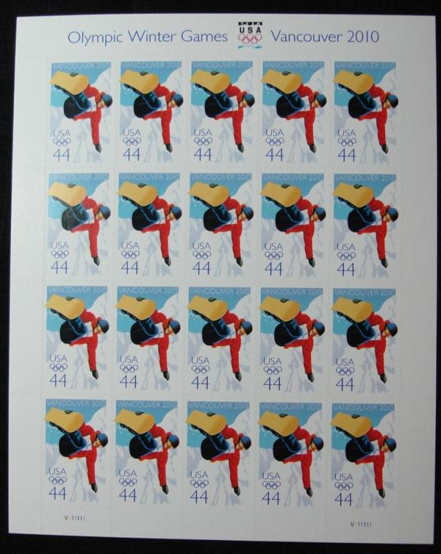 US #4436 MNH Pane of 20, Vancouver Winter Olympic SCV $20.00