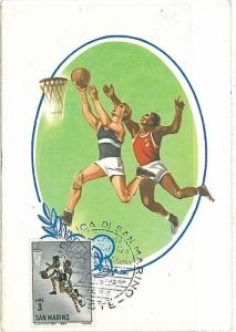 BASKETBALL - MAXIMUM CARD : SAN MARINO 1968
