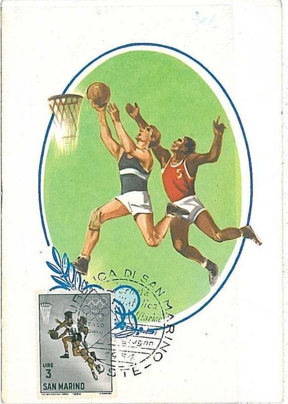 BASKETBALL - MAXIMUM CARD : SAN MARINO 1968