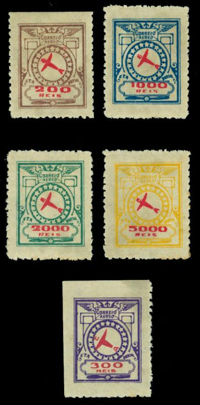 BRAZIL 1929 AIRMAIL - Private Airmail Company  E.T.A. set Sc# 2CL1-2CL5  mint MH