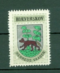 Denmark. Poster Stamp 1940/42. Mnh. District: Bjæverskov. Coats Of Arms: Beaver