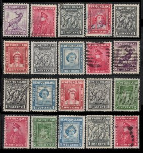 NEWFOUNDLAND 1932 / 1947 LOT 20 MIXED 9 DIFF, PLEASE SEE SCAN