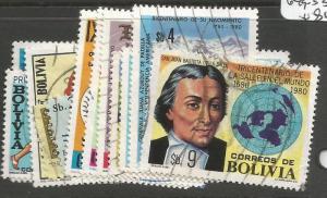 Bolivia SC 638-46, 649-53 VFU (10ctg)