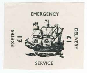 (I.B) Cinderella Collection : Strike Post £1 (Exeter Emergency Delivery)