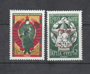 RUSSIA - 1968 FRONTIER GUARDS - SCOTT 3664 TO 3665 - MNH