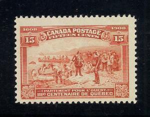 Canada #102 Red Orange - Unused - O.G.