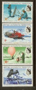 British Antarctic Territory, Scott #20-23; Anniversary of Scientific Work, MLH