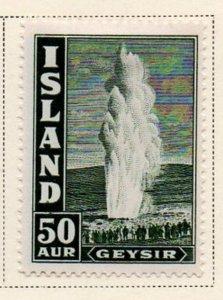 Iceland Sc 208 1938 50 aur geyser stamp mint