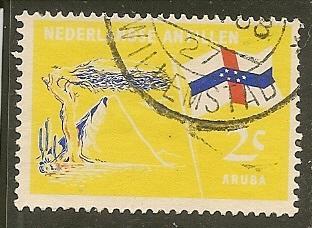 Netherlands Antilles      Scott 296     Flag        Used