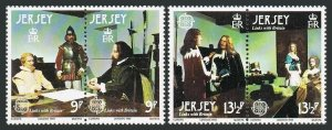 Jersey 229-230 ab pairs,MNH.Michel 219-222. EUROPE CEPT-1980. Wax Figures.