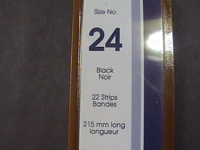 SHOWGARD MOUNTS # 24--215MM LONG x 24MM WIDE---22 STRIPS---BLACK /NEW
