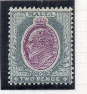 Malta 1904-14 Early Issue Fine Mint Hinged 2d. 321565
