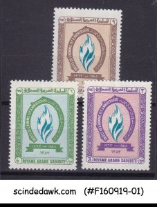 SAUDI ARABIA - 1964 HUMAN RIGHTS SCOTT#282-284 - 3V MINT NH