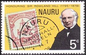 Nauru # 195 mnh ~ 5¢ Rowland Hill and Stamp