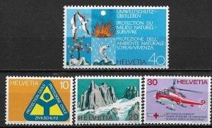 1972 Switzerland 551-4  General issue set MNH