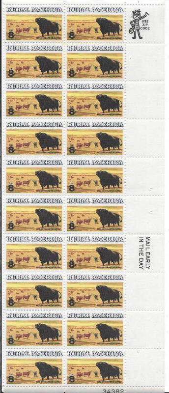 SPECIAL of  The MONTH Large Plate Block OR Strip of 20 & see thru COVER included