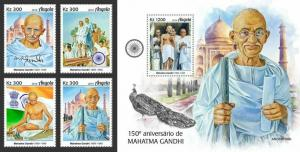 Z08 IMPERF ANG190109ab ANGOLA 2019 Mahatma Gandhi MNH ** Postfrisch