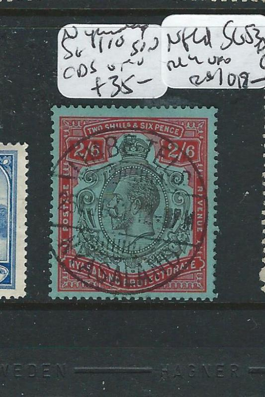 NYASALAND  (PP2309B) KGV 2/6 SG110 VILLAGE SON CDS VERY NICE  VFU