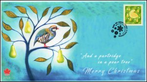 CA19-049, 2019, Christmas, Pictorial Postmark, First Day Cover, Partridge in a p
