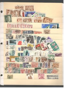 POLAND COLLECTION ON STOCK SHEET, MINT/USED