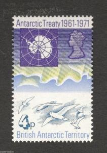 1971 British Antarctic Territory #40 MH stamp Antarctic Treaty 1961-1971