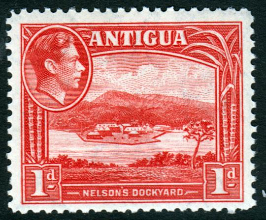 Antigua KGVI 1938 1d Red SG99a Mint Never Hinged MNH UMM
