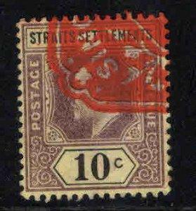 Straits Settlements Scott 98 Used 10c KEVII stamp