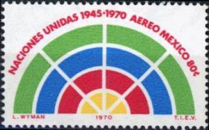 Mexico #C376 25th Anniversary of the UN