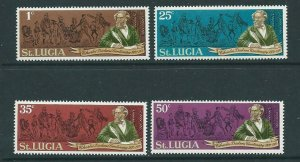 ST.LUCIA SG293/6 1970 DEATH CENTENARY OF CHARLES DICKENS MNH