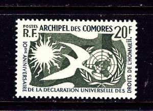 Comoro Is 44 MNH 1958 Human Rights