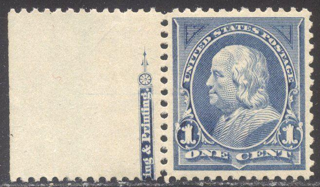 U.S. #247 CHOICE Mint XF NH w/ Cert - 1894 1c Blue