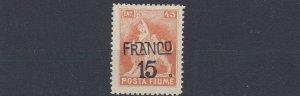 FIUME 1919   S G  101   15 ON  45C  ORANGE      MH