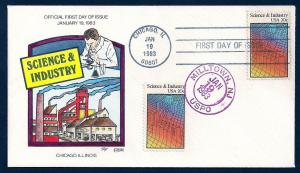 UNITED STATES FDC 20¢ Science DUAL 1983 Collins H-P D601