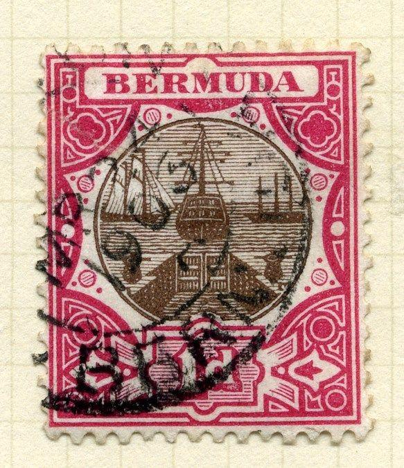 BERMUDA;  1902 early issue fine used value 1d.