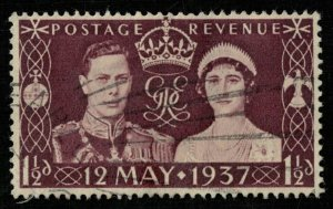 Great Britain 1937 Coronation Stamp 12th May 1937 1 1/2d Rare (4164-T)